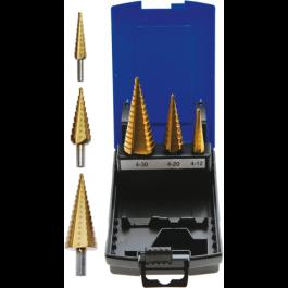 BGS 1624 Trappenboorset | titanium gecoat | Ø 4 - 30 mm | 3-dlg