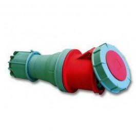 CEE contra stekker 125A 4-polig rood krachtstroom