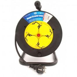 Kabelhaspel met 4 stopcontacten 3x1.5mm² 25m Neopreen H07RN-F