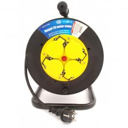 Kabelhaspel met 4 stopcontacten 3x2.5mm² 25m Neopreen H07RN-F