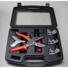 Buiskniptang en kabelgootsnijder complete set in koffer