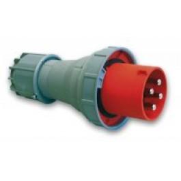 CEE stekker 125A 4-polig rood krachtstroom