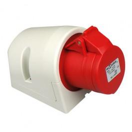 CEE wandcontactdoos opbouw 16A 4-polig rood krachtstroom