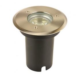 Grondspot Rond LED RVS + Gu10 LED 5W