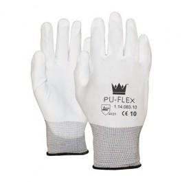 PU Handschoenen paar easy grip WIT NYLON