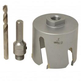 Hercules Prof Gatenzaag diameter 76mm incl adapter en centreerboor hout / MDF - 76mm