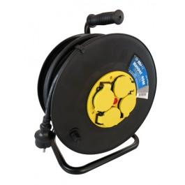Kabelhaspel met 4 stopcontacten 3x1.5mm² 40m Neopreen H07RN-F