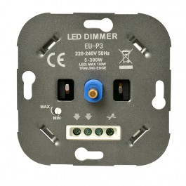 Universele Ratio LED dimmer 5 - 150W inbouw