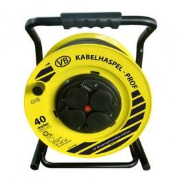 Professionele Kabelhaspel 4 stopcontacten 3x1.5mm² 40m Neopreen H07RN-F VBtools