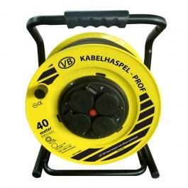 Professionele Kabelhaspel 4 stopcontacten 3x2.5mm² 40m Neopreen H07RN-F VBtools