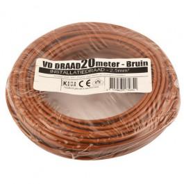 VD-draad bruin 2,5mm 20 meter rol