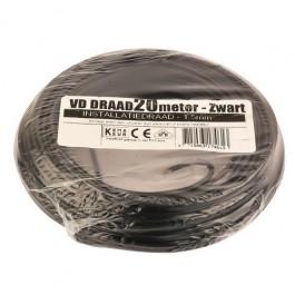 VD-draad zwart 1,5mm 20 meter rol