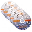 BGS 3936 Doorslijpschijven voor RVS - Staal | Ø 125 x 1,0 x 22,2 mm | 5 stuks