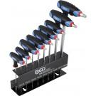 BGS 8485 T-greep sleutelset | T-profiel (voor Torx) T10 - T50 | 9-dlg