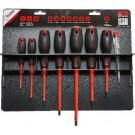 Bizline Set van 7 geïsoleerde schroevendraaiers 1000V met spanningstester