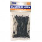 Bundelband 2,5 x 160mm 100st zwart