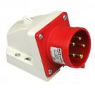 CEE Toestelcontactdoos opbouw 32A 5-polig rood krachtstroom