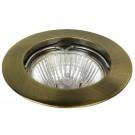 Inbouwspot vast diameter 77mm voor 50mm lamp Brons