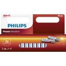 Philips PowerAlkaline 12x AAA 1.5V Actiepack - Batterijen