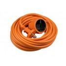 Verlengsnoer 10 meter 2x1mm² H05VV oranje