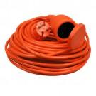 Verlengsnoer 20 meter 2x1mm² H05VV oranje met Klep